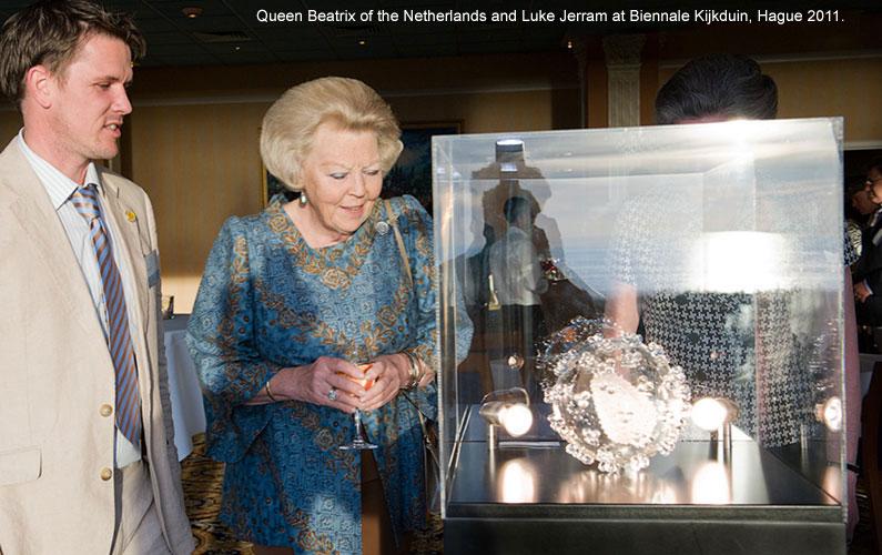 Queen Beatrix of Netherlands at Biennale Kijkduin, Hague.