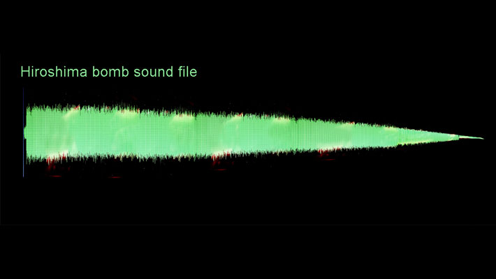 Sound file of explosion